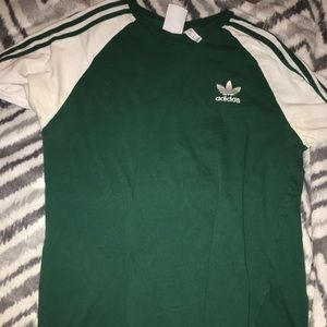 Adidas 3 Stripes Tshirt - green - L